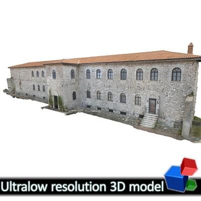 Monastery of Panagia Kalamou - Monastic Cells (3D)