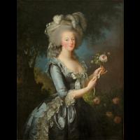 Rendu 3D deMarie-Antoinette à la rose ': Tableau de chevalet de l'Antichambre