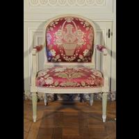 Rendu 3D de Fauteuil à la Reine du Salon de compagnie