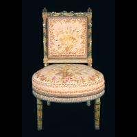 Chaise de la Chambre de la Reine(Mobilier aux épis)