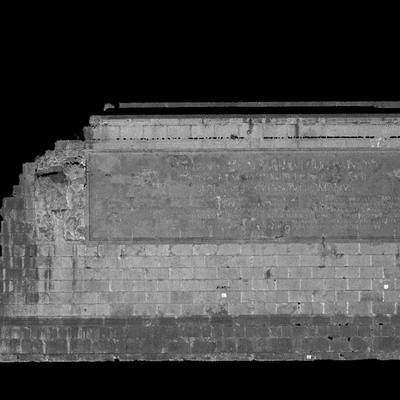 Orthophotographie de la façade ouest 1 du trophée des Alpes (la Turbie)