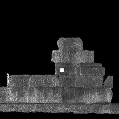 Orthophotographie de la façade est 1 du trophée des Alpes (la Turbie)