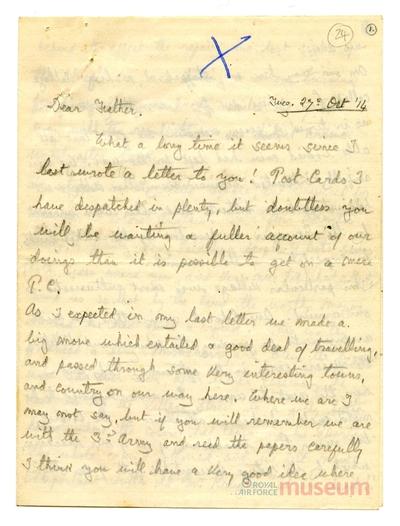 27.10.1914 - Bernard wird Zeuge des Luftkrieges