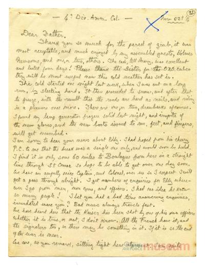 23.11.1914 - Bernard im Winter