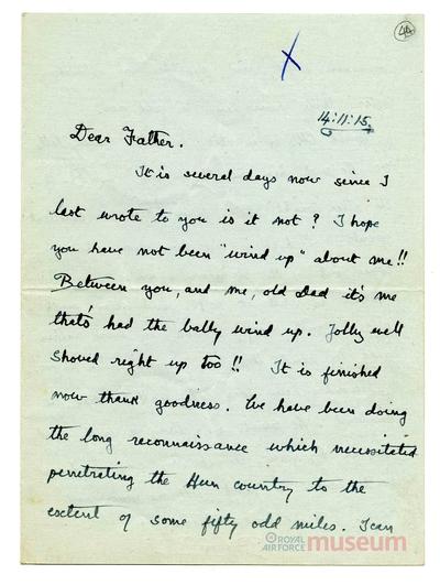 14.11.1915 - Bernard hinter den feindlichen Linien