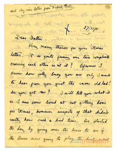 27.12.1915 - Bernard geht ins Theater