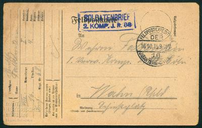 """14.10.1915 - Peter: """"Es muß doch einmal aufhören"""""""