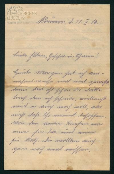17.02.1916 - Peter ist die Läuse losgeworden