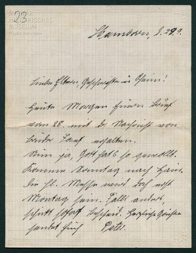 29.09.1916 - Peters Bruder Josef ist gefallen