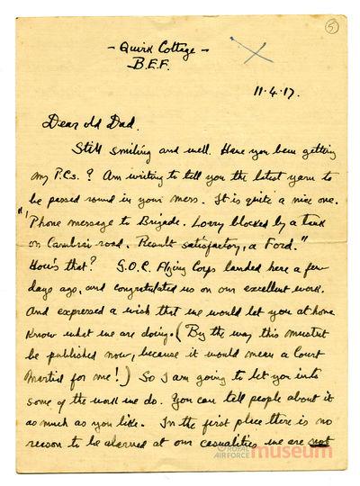 11.04.1917 - Bernard nimmt den Feind ins Visier