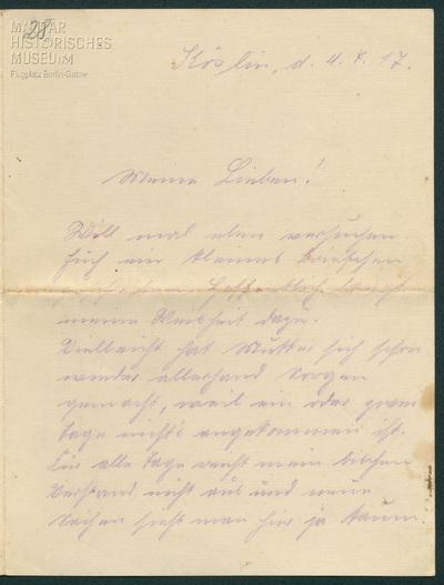 04.07.1917 - Peter beginnt seine Flugausbildung