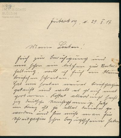 29.10.1917 - Peter lebt sich in Jüterbog ein