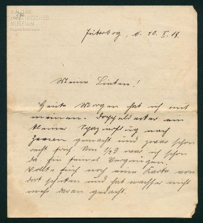 30.10.1917 - Peter fliegt einen Doppeldecker