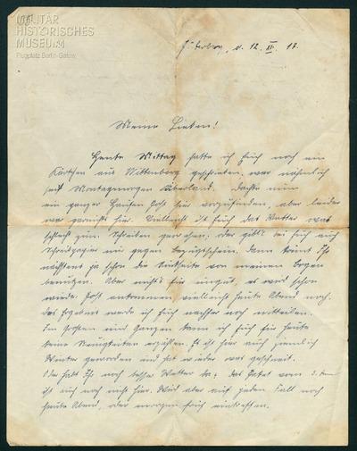 12.12.1917 - Peter und der Papiermangel