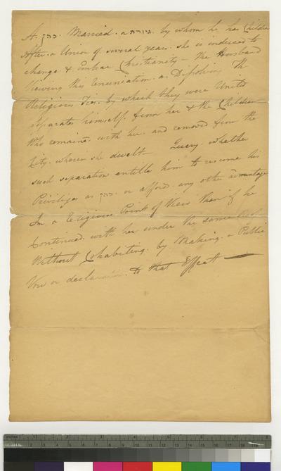 Opinion on Cohanim, in handwriting of Abraham H. Cohen, son of hazan Cohen of Philadelphia