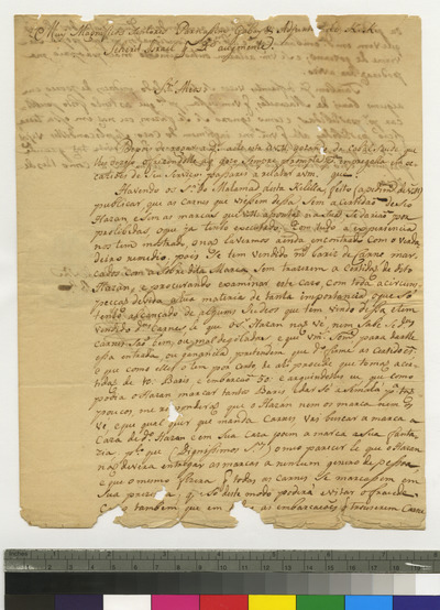 Letter from the Parnassim of Curaçao to K.K.S.I.
