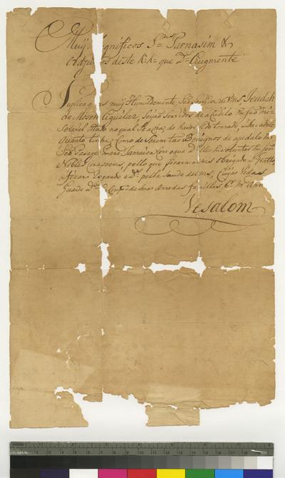 Petition of Judah de Moseh Aguilar