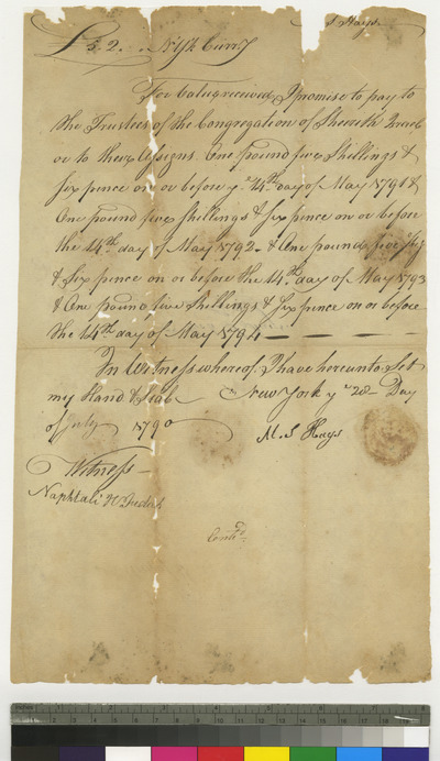 Promissory note of M. S. Hays