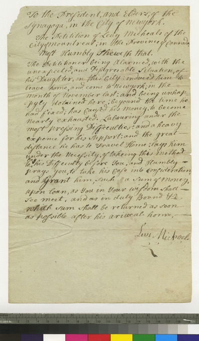 Petition of Levy Michaels to K. K. S. I.