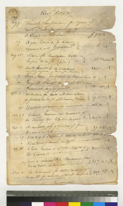 Expenses of the Congregation regarding real estate