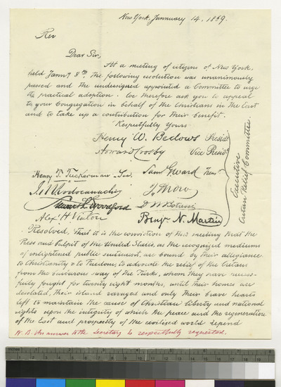 Appeal for the persecuted Cretans, issued by the clergy of New York
