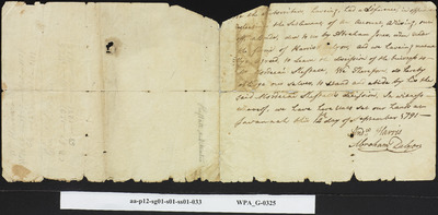 Agreement Whereby Mordecai Sheftall is to Settle Dispute Between Andrew Harris and Abraham Delyon, September 14, 1791