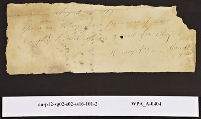 Provision Return for the Main Guard Signed by Henry Allison for Prisoners of War, 08/26/1778