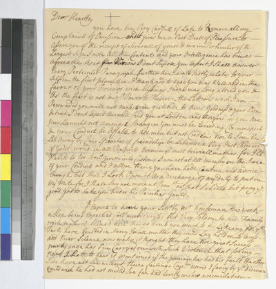 Letter to Naphtali Franks from his mother, Abigail Franks, June 15, 1735