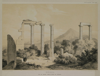 View of the temple of Aphrodite in Aphrodisias of Caria, from the pronaos.