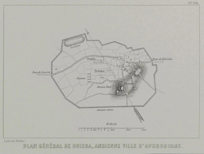 Map of Aphrodisias in Caria.