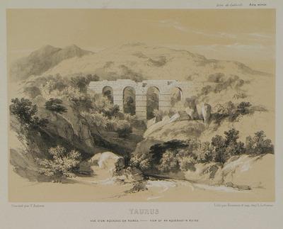 Aqueduct on Taurus mountains, near Alaca plateau.