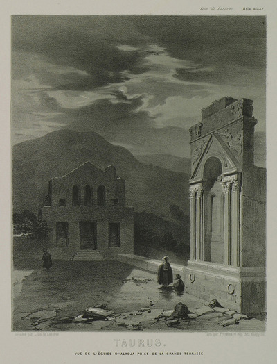 Churches in ruins on Alaca plateau, Erdemli district.