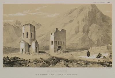 Early Christian structures in ruins, in Madenşehri, Binbirkilisse area,  Mount Karadag.