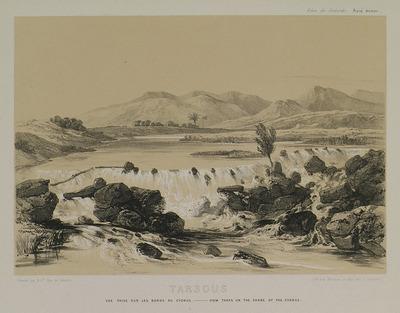 Landscape at Berdan river (ancient Cydnus) in Tarsus, Cilicia.