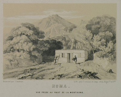 View of a building on Mount Homa, Asia Minor.