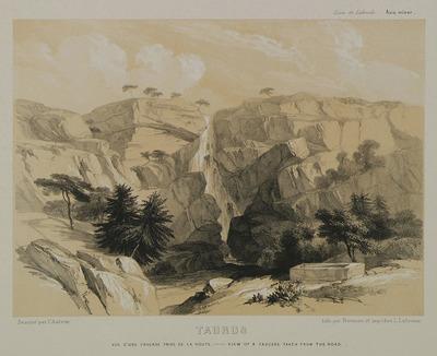 Waterfall on Taurus mountains, near Alaca plateau.