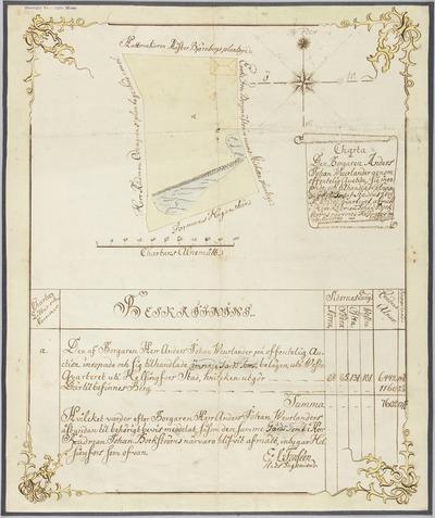 Charta å Den Borgaren Anders Johan Weurlander genom offentlig Auction sig inropade