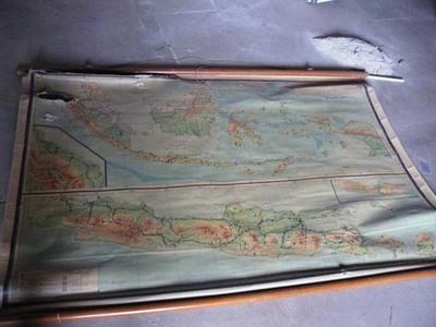 Schoolkaart van Indonesië