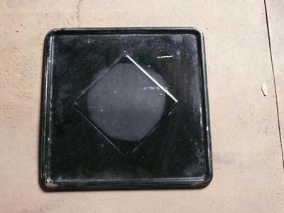 Plaat van een kachel