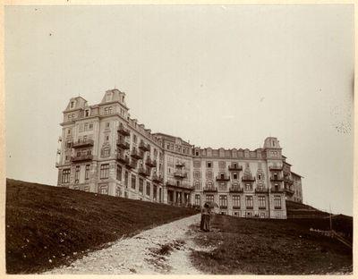 HOTEL RIGHI (sic)- KULM. BRUNNEN -VITZNAU, LAGO DEI QUATTRO CANTONI,  HOTEL RIGI-KULM A m.1800