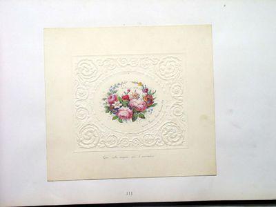 Biglietto di auguri con decorazione floreale