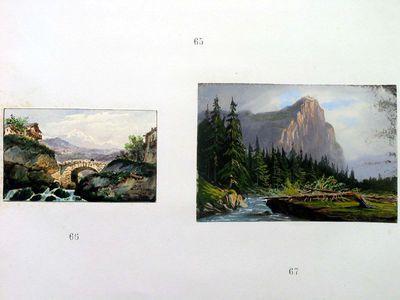 Ponte su torrente in una vallata alpina