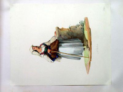 Ciociara con bastone