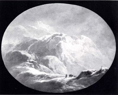 Paesaggio (valico alpino sotto la neve)