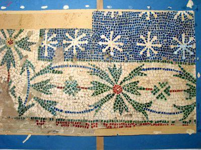 Battistero di Albenga - Particolare di mosaico