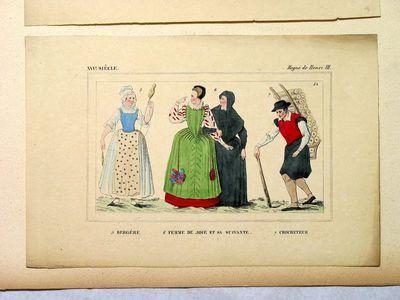 Bergère, femme de joie et sa suivante, crocheteur (XVI siècle - Règne de Henri III)
