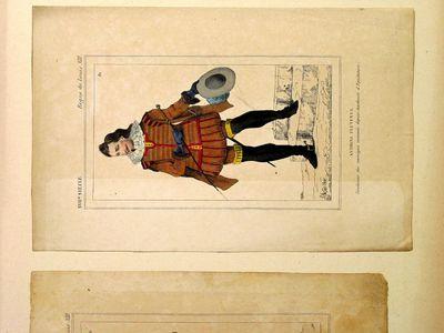 Antoine Pluvinel, fondateur des manèges, nommès de puis acadèmie d'equitation (XVII Siécle - Régne de Louis XIII)