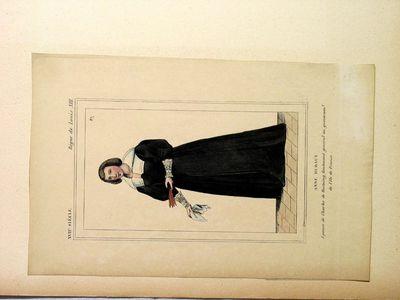 Anne Huraut, Epouse de Charles de Rostaing, lieutenant général au gouvernem.t de l'Ile de France. (XVIIe Siécle - Régne de Louis XIII)