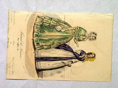 Journal des Femmes - Modes de M.me Marie Séguin-Capote de satin blanc…