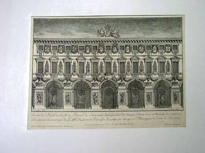 Facciata del Palazzo del Barone di Choiseuil (illuminata per il matrimonio della Principessa Giuseppina di Savoia con il Conte di Provenza)